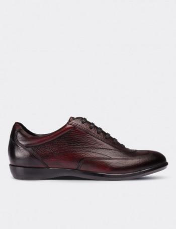 Hakiki Deri Kırmızı Spor Erkek Ayakkabı