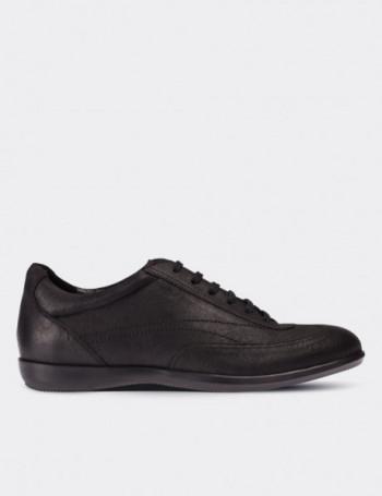 Hakiki Nubuk Siyah Spor Erkek Ayakkabı