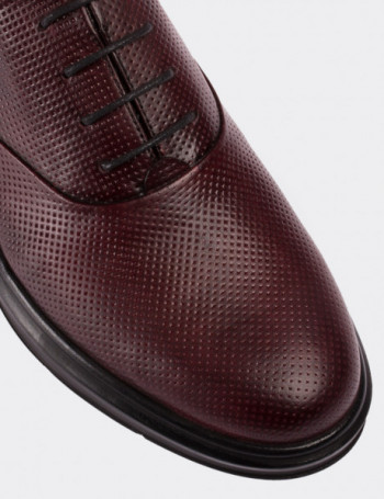 Hakiki Deri Bordo Comfort Erkek Ayakkabı