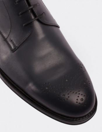 Hakiki Deri Gri Erkek Kösele Ayakkabı