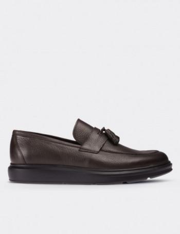 Hakiki Floter Deri Yeşil Comfort Erkek Loafer