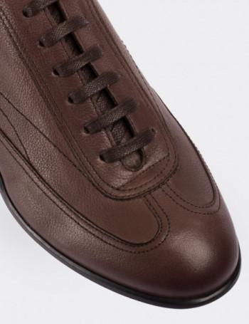 Hakiki Deri Bej Spor Erkek Ayakkabı