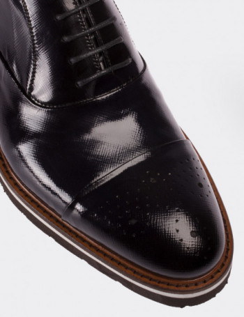 Hakiki Rugan Gri Günlük Erkek Ayakkabı