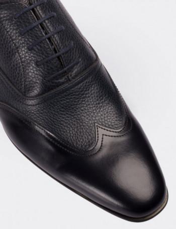 Hakiki Deri Lacivert Klasik Erkek Ayakkabı
