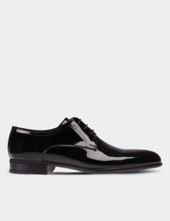 Hakiki Rugan Siyah Klasik Erkek Ayakkabı