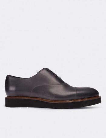 Hakiki Deri Gri Günlük Erkek Ayakkabı