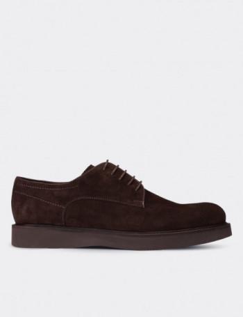 Hakiki Deri Kahverengi Süet Erkek Ayakkabı