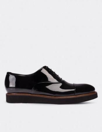Siyah Rugan Günlük Erkek Ayakkabı