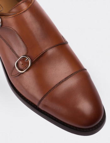 Hakiki Deri Taba Rengi Erkek Kösele Ayakkabı