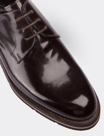 Hakiki Rugan Kahverengi Günlük Erkek Ayakkabı