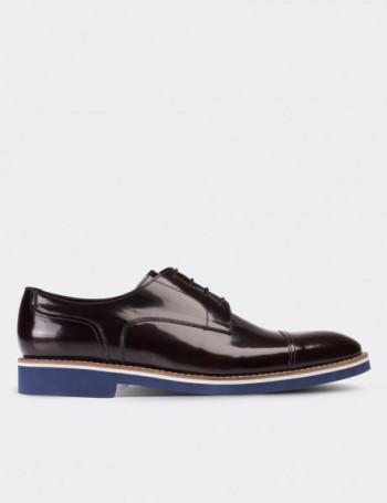 Hakiki Deri Bordo Günlük Erkek Ayakkabı