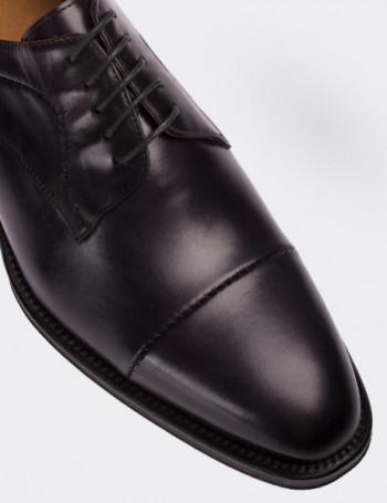 Hakiki Deri Mor Erkek Kösele Ayakkabı