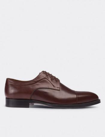 Hakiki Deri Kahverengi Erkek Kösele Ayakkabı