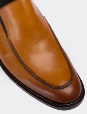 Hakiki Deri Taba Rengi Klasik Erkek Ayakkabı