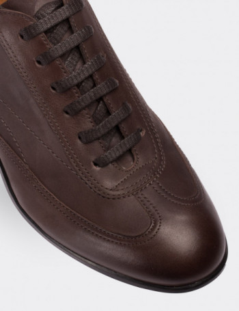 Hakiki Nubuk Vizon Rengi Spor Erkek Ayakkabı