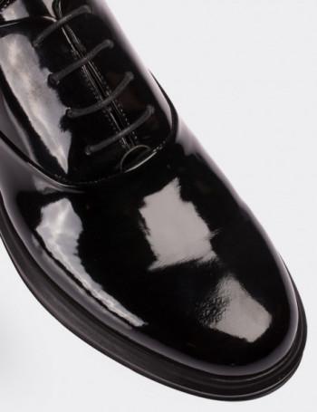 Hakiki Rugan Siyah Comfort Erkek Ayakkabı