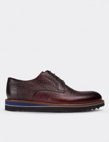 Hakiki Floter Deri Taba Rengi Vintage Erkek Ayakkabı