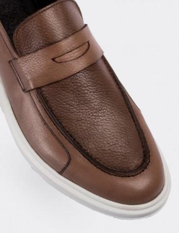 Hakiki Deri Vizon Rengi Comfort Erkek Loafer