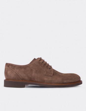 Hakiki Süet Vizon Rengi Günlük Erkek Ayakkabı