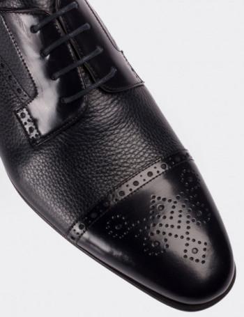 Hakiki Rugan Lacivert Klasik Erkek Ayakkabı