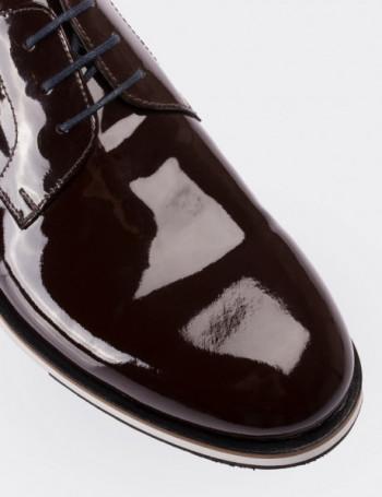 Hakiki Rugan Kahverengi Erkek Günlük Ayakkabı