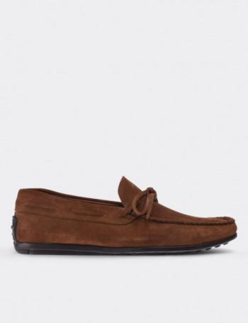 Hakiki Süet Tarçın Rengi Loafer Erkek Ayakkabı