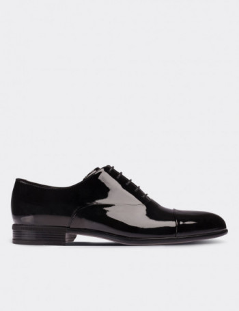 Siyah Rugan Klasik Erkek Ayakkabı