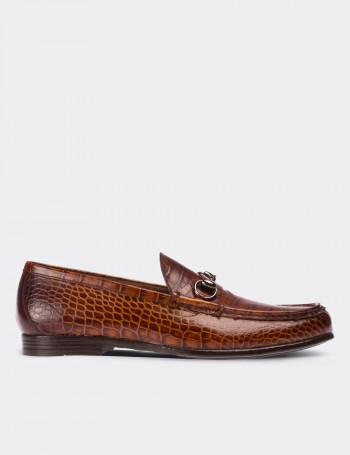 Hakiki Deri Taba Rengi Sınırlı Üretim Erkek Loafer