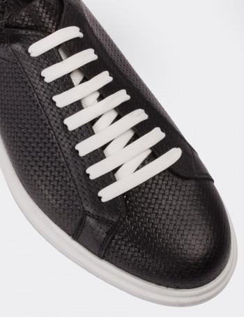 Hakiki Deri Siyah Comfort Spor Erkek Ayakkabı