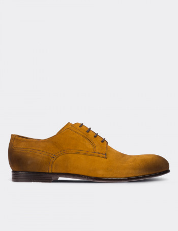 Hakiki Süet Hardal Rengi Günlük Erkek Ayakkabı