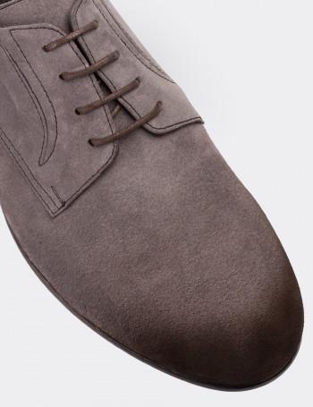 Hakiki Deri Gri Günlük Süet Erkek Ayakkabı