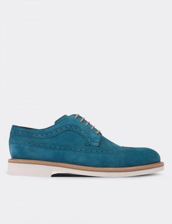 Hakiki Süet Mavi Günlük Erkek Ayakkabı