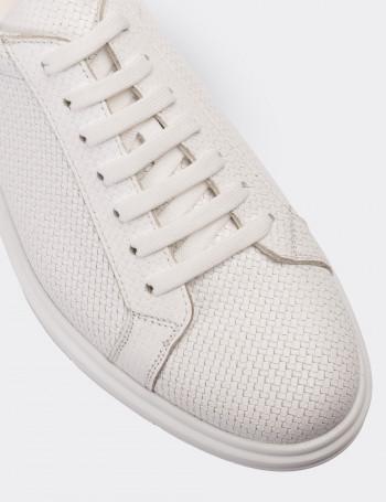 Hakiki Deri Beyaz Spor Erkek Ayakkabı