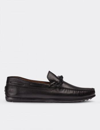 Hakiki Deri Siyah Loafer Erkek Ayakkabı