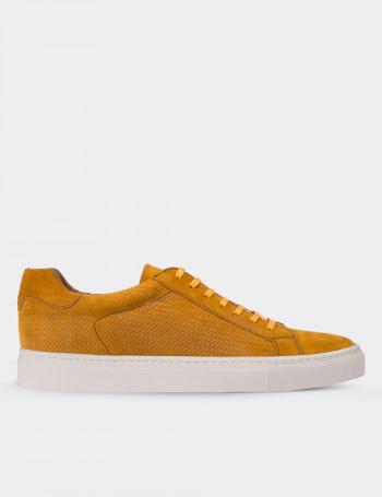Hakiki Süet Sarı Sneaker Erkek Ayakkabı
