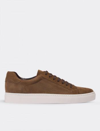 Hakiki Süet Kahverengi Sneaker Erkek Ayakkabı