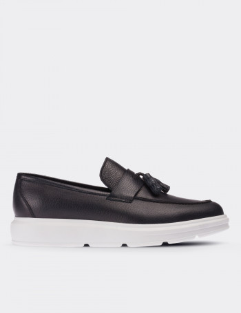 Hakiki Deri Lacivert Comfort Loafer Erkek Ayakkabı