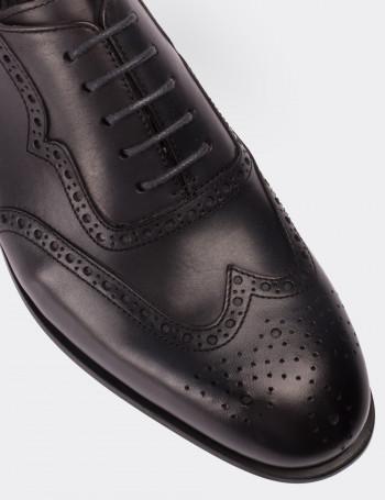 Hakiki Deri Gri Oxford Klasik Erkek Ayakkabı