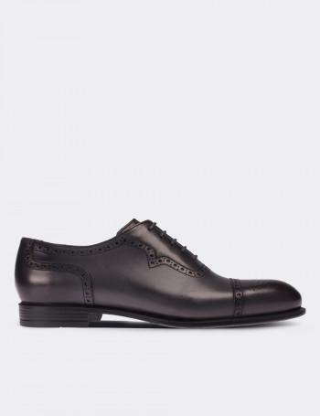 Hakiki Deri Gri Klasik Erkek Ayakkabı