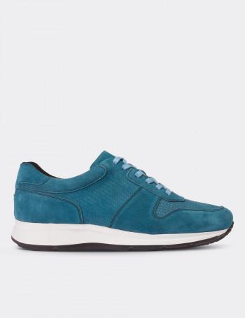 Hakiki Süet Mavi Spor Erkek Ayakkabı