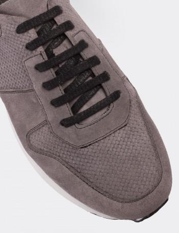 Hakiki Süet Gri Spor Erkek Ayakkabı