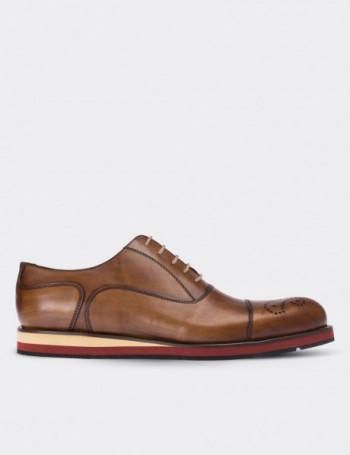 Hakiki Deri Taba Rengi Erkek Ayakkabı