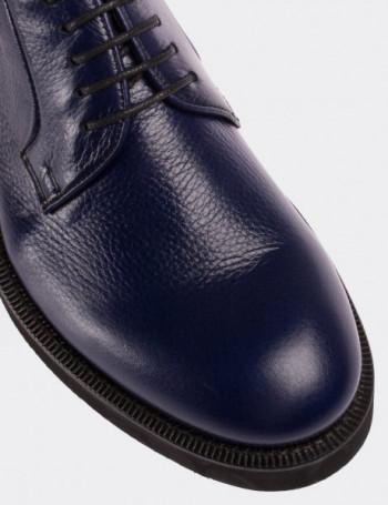 Hakiki Floater Deri Lacivert Erkek Ayakkabı