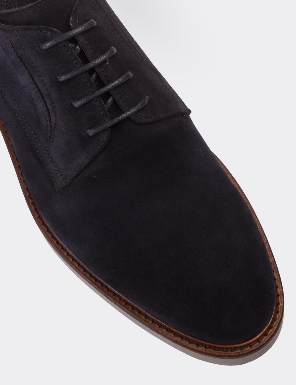 Hakiki Süet Lacivert Günlük Erkek Ayakkabı - 01294MLCVE09
