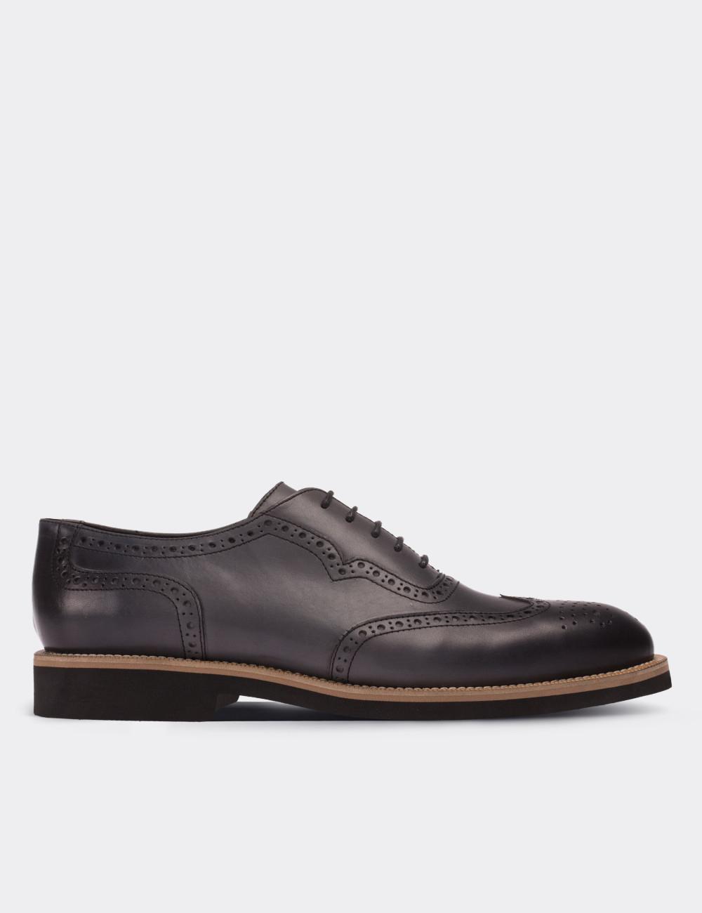 Hakiki Deri Gri Günlük Erkek Ayakkabı - 01676MGRIE01