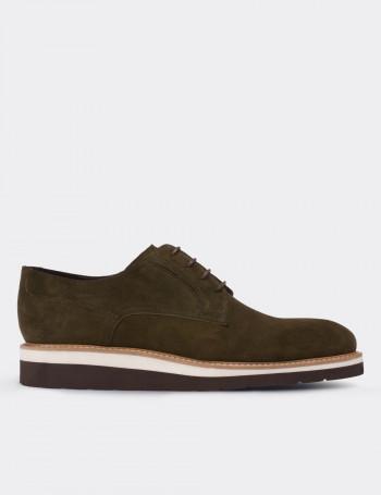 Hakiki Süet Yeşil Günlük Erkek Ayakkabı