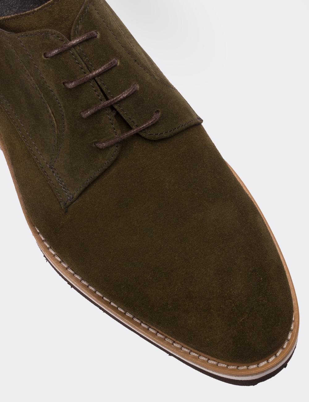 7ff91f666e538 Hakiki Süet Yeşil Günlük Erkek Ayakkabı - 01294MYSLE04