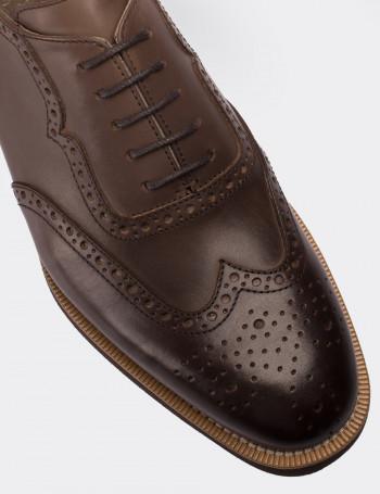 Hakiki Deri Vizon Rengi Günlük Erkek Ayakkabı