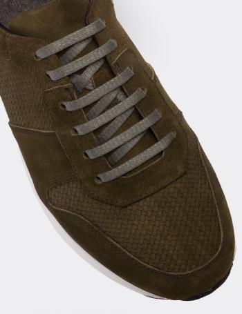 Hakiki Süet Yeşil Spor Erkek Ayakkabı