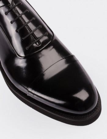 Hakiki Deri Siyah Erkek Ayakkabı